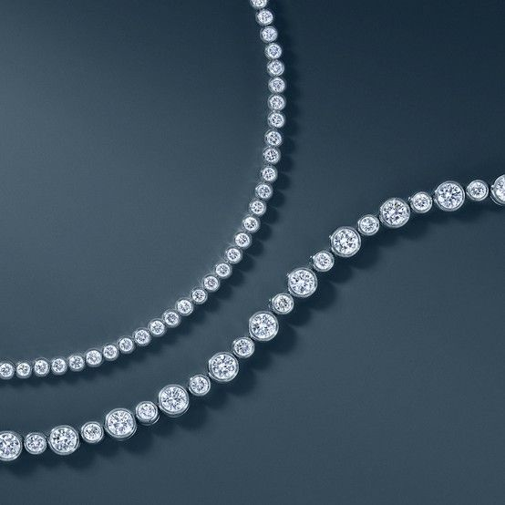 A diamond line bracelet by Tiffany