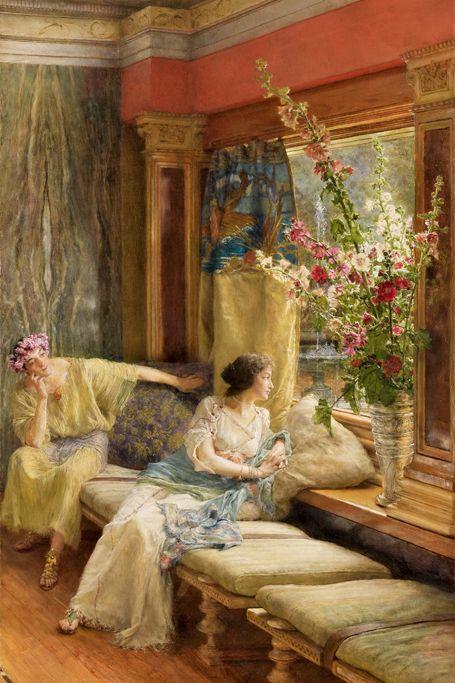 Lawrence Alma - Tadema . Cortejo vano 1900