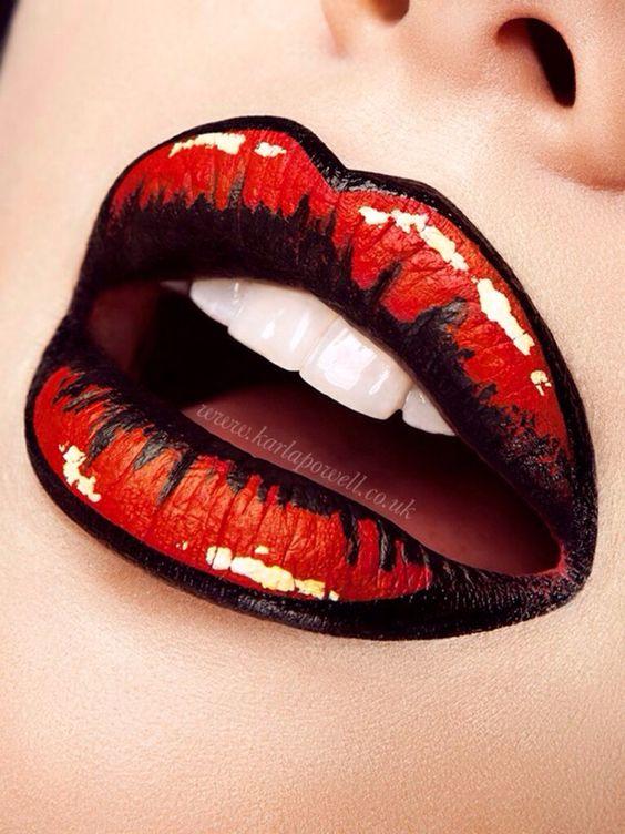 Pop Art Lips 'KA POWell'   Creative Lip Art Make-up by Karla Powell