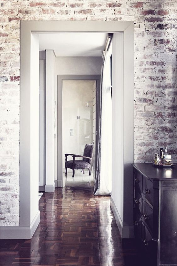 I can totally see this brick wallpaper in a kids room for an accent wall! So cool!