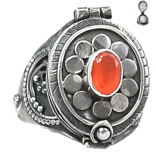 Poison-Ring-Carnelian-925-Sterling-Silver-Ring-Jewelry-s-9-SR145873