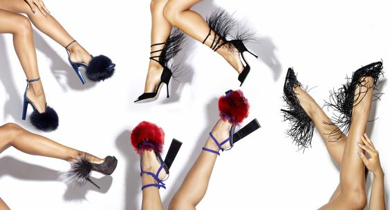 Furry, Feathery Heels. Photo: Philippe Regard for The New York Times