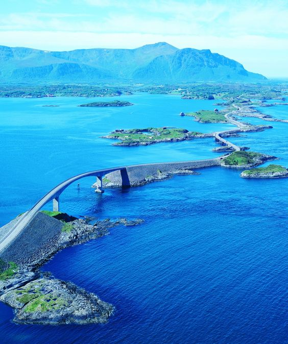 A road trip you won't forget. Drive the Atlantic Ocean Road. #norway