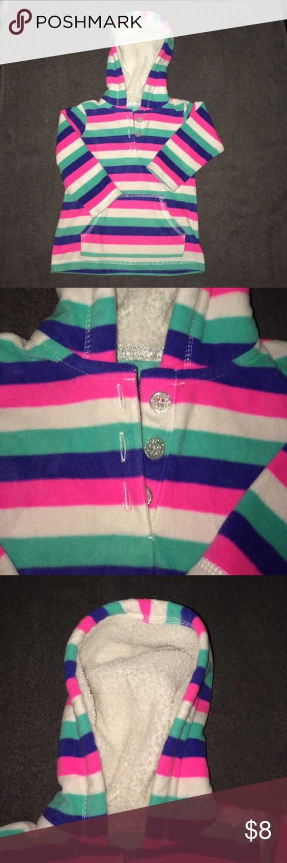 Child fleece Childs fleece with hoodie super cute! Worn once or twice in great condition like new Carter's Jackets & Coats