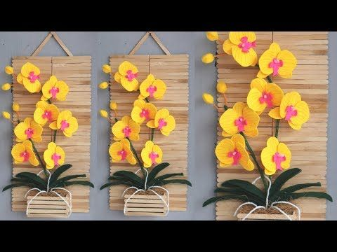 Popsicle Stick Crafts Ideas Wallhanging Diy Homedecor