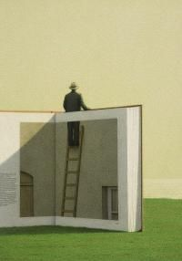 Sometimes you have step out of your story.  Quint Buchholz - Mann auf  einer Leiter