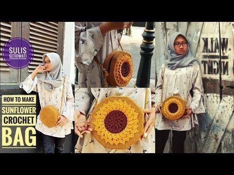 Crochet Tas Rajut Bunga Matahari Subtitle Available Youtube Tas Rajut Tas Tangan Rajutan Bunga Rajut