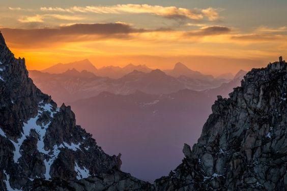 Amanecer en los Alpes, Francia #photography