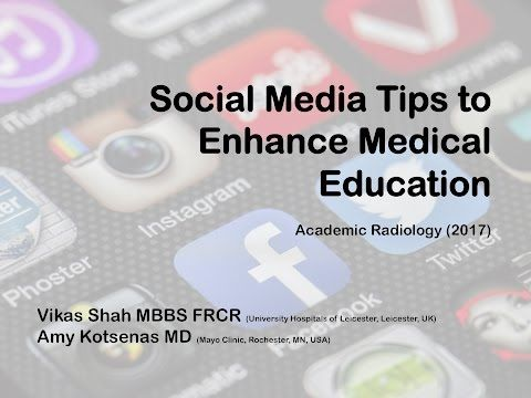 22 Social Media For Radiology Education Youtube Health Care And