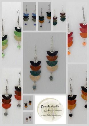 - DÉCORATION EN FONCTION DE LA COULEUR DE CAPSULE (perles de verre - hématites - perles métal argenté etc...) - ENVIRON 6/7 CM - BOUCLES D'OREILLES GARANTIES SANS NICKEL PAR - 15787108
