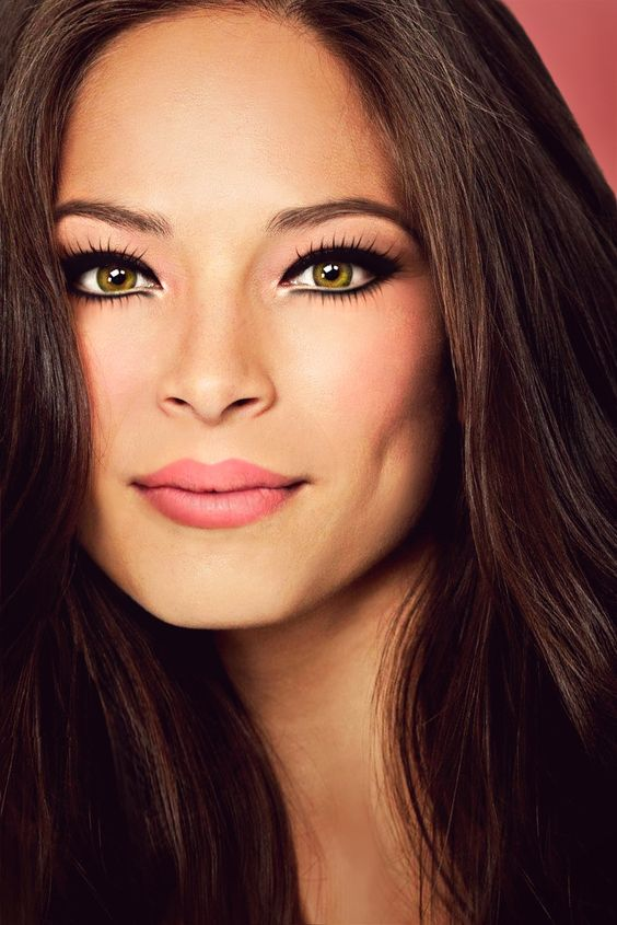 Hazel Eye Makeup And Eye Shadow For: Celebrity Inspiration For Dark Brown Hair