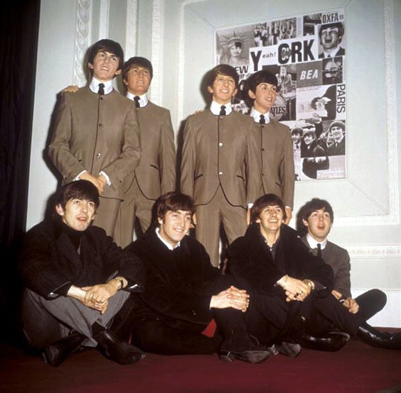 Image result for 1964--The Beatles go on display as wax figures in Madame Tussaud's Waxwork Museum in London.