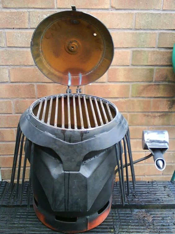 homemade gas bottle bbq images outdoor grilling pinterest homemade darth vader and bottle. Black Bedroom Furniture Sets. Home Design Ideas