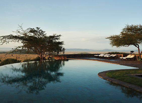 Cool down and relax at the Singita Sasakwa Lodge in Tanzania #OrganicSpaMagazine