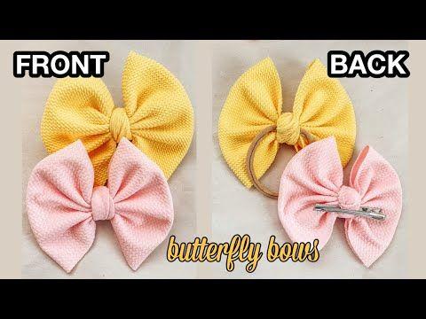 Hair Bows Hand Tied Bows Baby Bows Hair Clips Toddler Headband Baby Headband Linen Hair bow Navy Newborn Headband