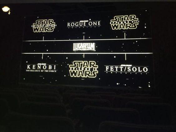Upcoming Star Wars Movies!!!