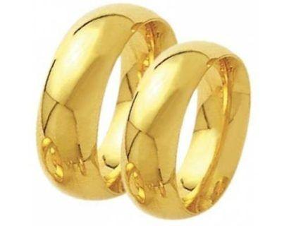 alianças de casamento de ouro largas