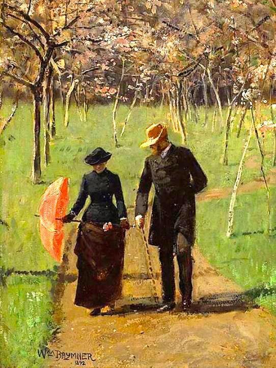 """""""Não caminhe na minha frente, eu não posso seguir. Não caminhe atrás de mim, eu não posso conduzir, apenas caminhe ao meu lado e seja meu amigo.""""  Albert Camus In the Orchard - 1892 - William Brymner"""