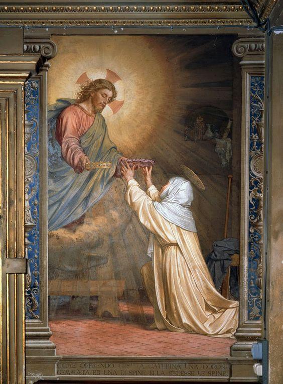 Ángeles y Santos: Santa Catalina de Siena y la corona de espinas de ...