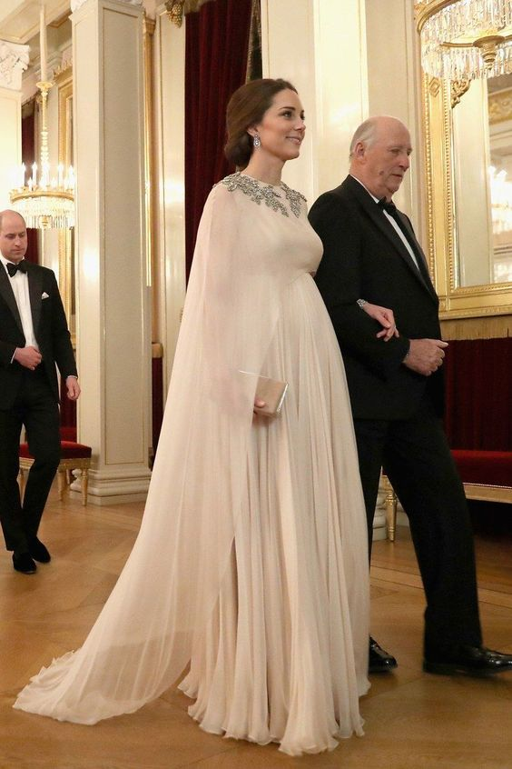 Kate Middleton wearing Alexander McQueen while attending an event in Oslo