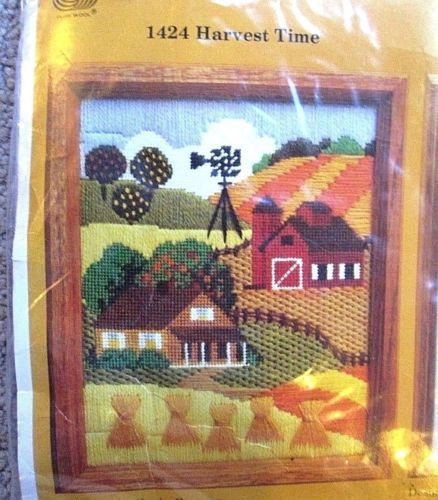 Farmhouse-1982-Unopened-The-Creative-Circle-1424-Harvest-Time-Embroidery-Kit