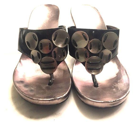 Calvin Klein black and silver sandals Calvin Klein black and silver sandals Calvin Klein Shoes Sandals