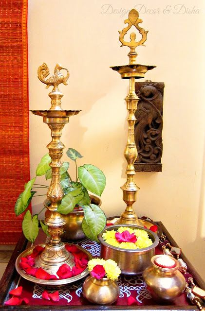 Design Decor & Disha: Diwali Decor With Brass Lamps:
