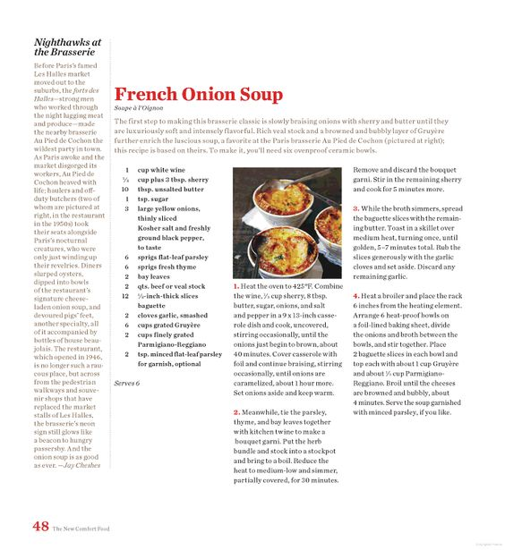 English Onion Soup With Sage And Cheddar Recipe — Dishmaps