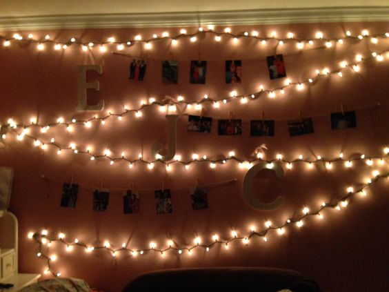 I decided to spruce my room up a little over Christmas break #bedroomdecor #christmaslights #wall #decorations #clothespins #collegeroom #bedroom
