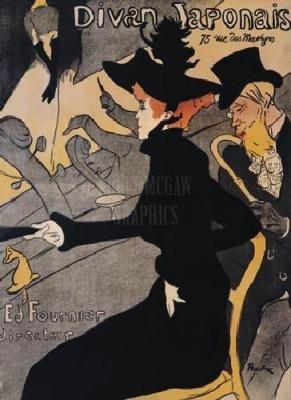 Henri de toulouse lautrec divan japonais 1893 posters for Divan japonais poster value