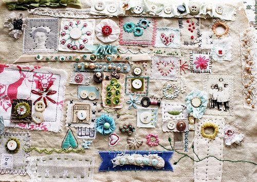 Stitch sampler by Rebecca Sower, via Flickr