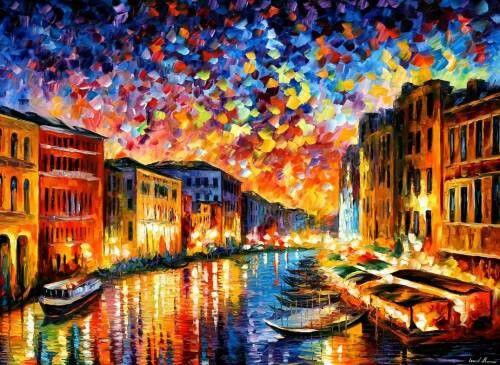 Venice Grand Canal , Leonid Afremov