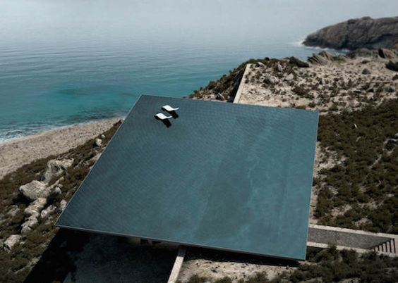 Mirage Infinity #pool Tinos Island Greece Top view - KIOS ASSOCIATED ARCHITECTS http://www.koisarchitecture.com