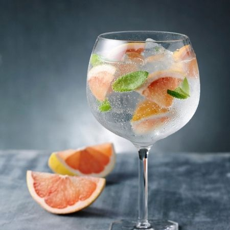 Grapefruit and basil gin and tonic, because everyone needs another way to drink gin.: