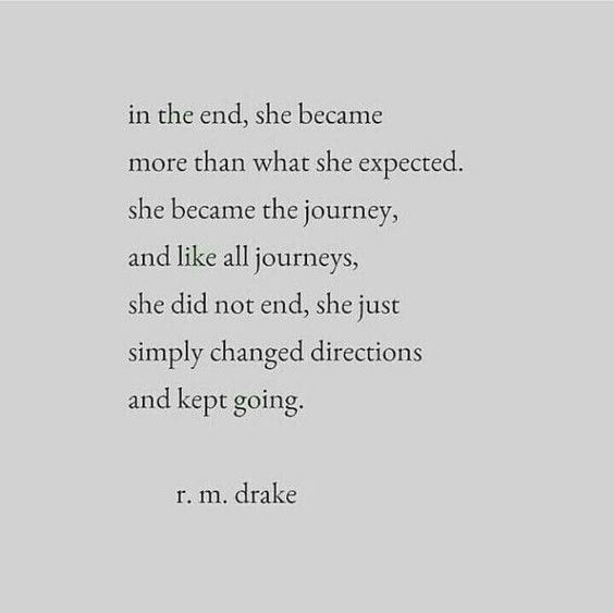 She did not end, she simply changed directions and kept on going.