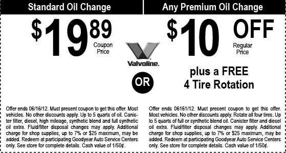 Valvoline Instant Oil Change Coupons 2018 Printable