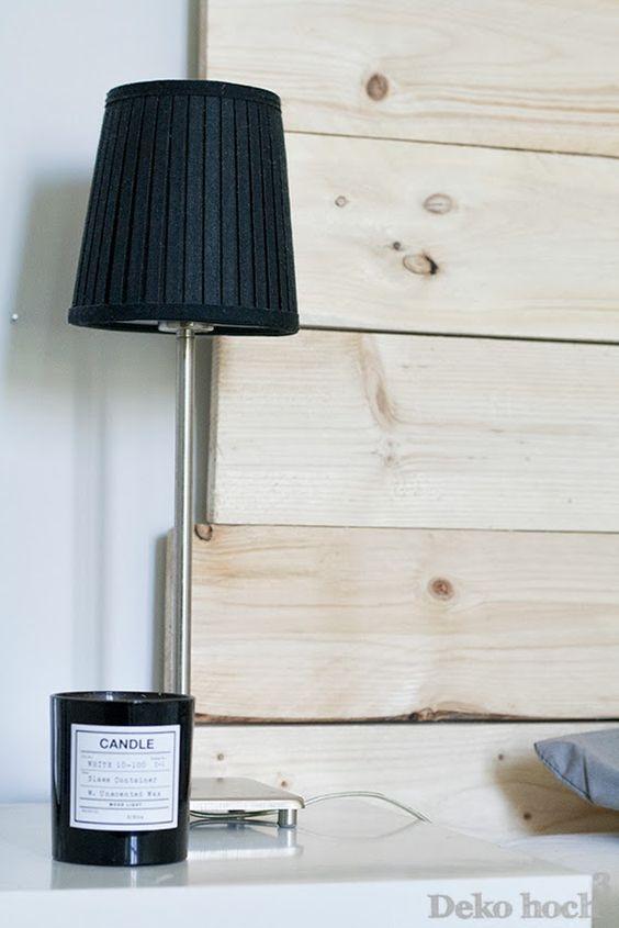 Deko hoch Drei: DIY Bettrückwand aus Holz