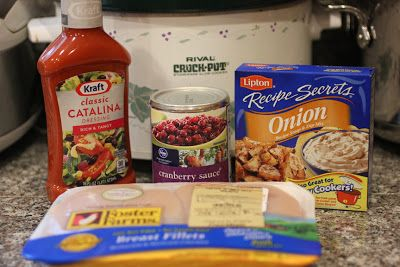 Repeat Crafter Me: Crock Pot Cranberry Chicken