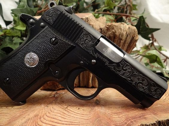 Colt Mustang Pocketlite 380 Engraved By Ryan Skiles
