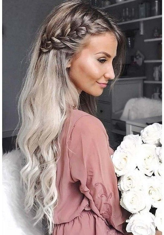 36 Elegant And Fresh Wedding Hairstyle Trendy In 2019 Sooshell Side Braid Hairstyles Elegant Hairstyles Braids For Long Hair