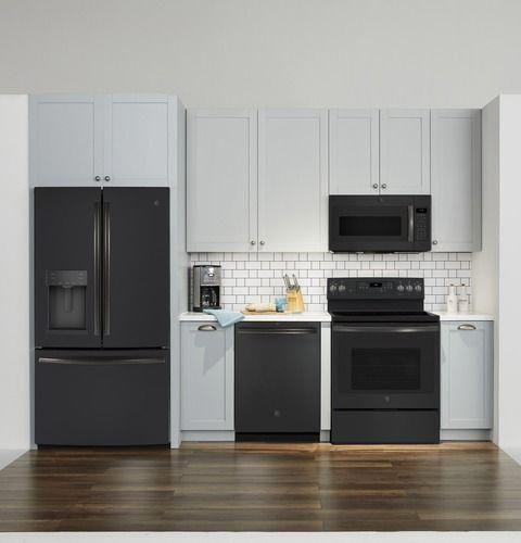 Ge 1 9 Cu Ft Over The Range Microwave Black Slate Jvm7195flds Best Buy In 2020 Black Appliances Kitchen Slate Appliances Kitchen Slate Appliances