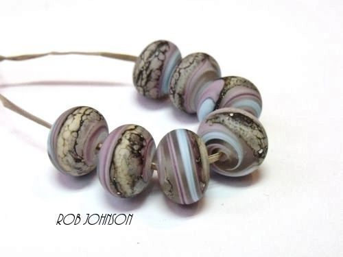 "Handmade Lampwork Glass Beads SRA, UK ""Fenland Winds"""