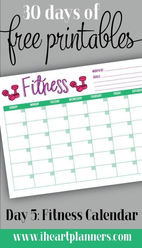 Georges Excel Workout Calendar Year   Workout Calendar And