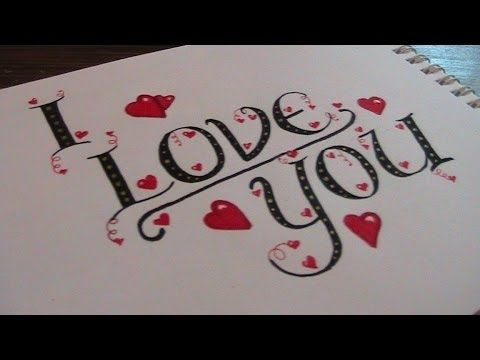 Cursive fancy letters how to write i love you youtube Calligraphy youtube