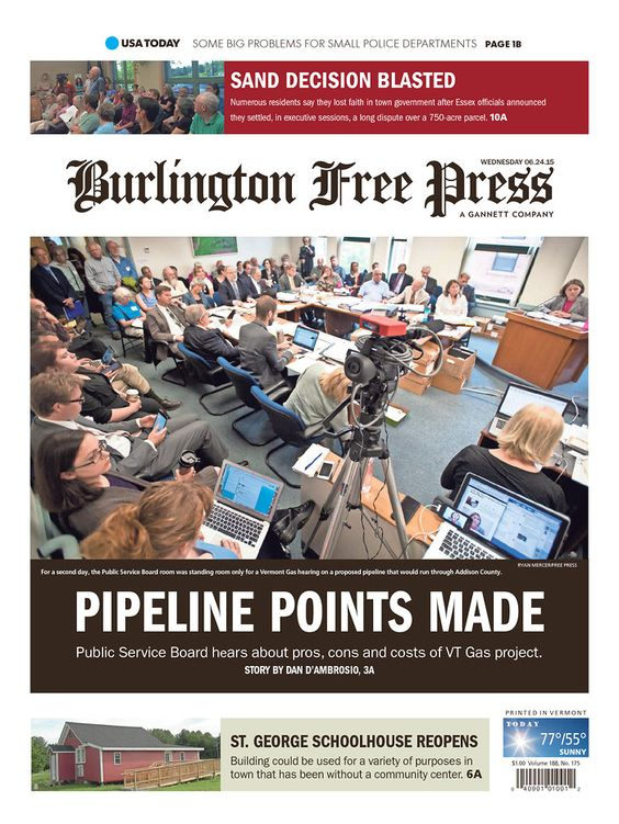 Today's Burlington Free Press​ www.burlingtonfreepress.com