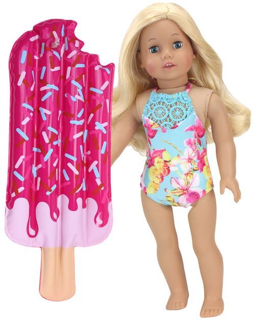 "Latest Handmade Doll swimsuit 3-piece setFits 18/""Inch American Girl Doll Clothes"