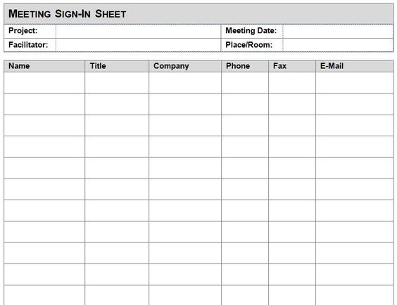 Attendance Sheet Template In Word Format u2013 Microsoft Office - office sign in sheet template