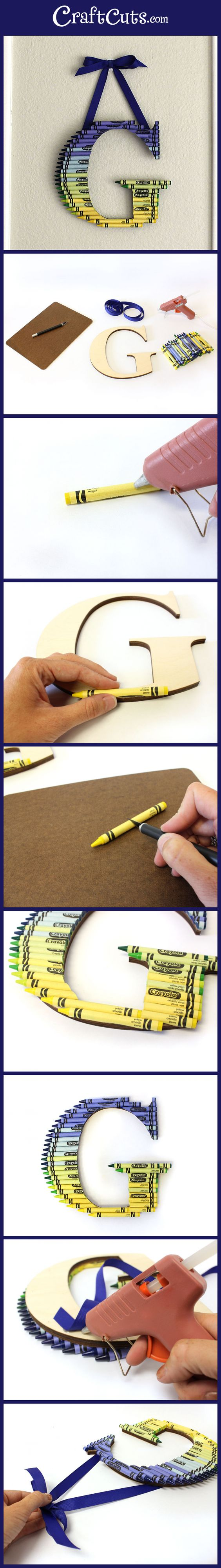 How to Create an Ombre Crayon Letter | CraftCuts.com