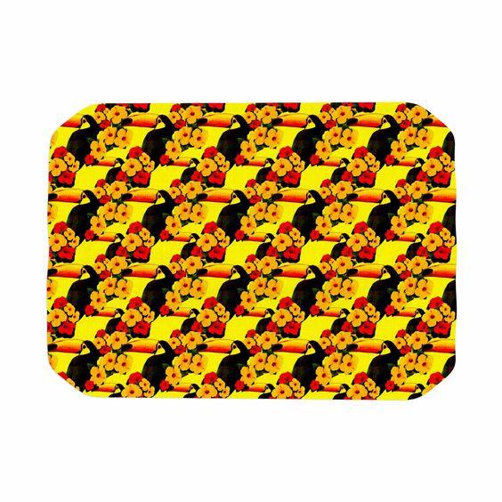 "Shirlei Patricia Muniz ""Love Toucans"" Yellow Floral Place Mat"