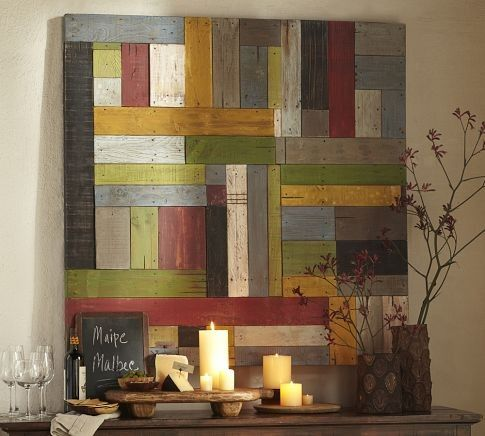 Literally Inspired: DIY Pottery Barn Painted Pieced Woodwork